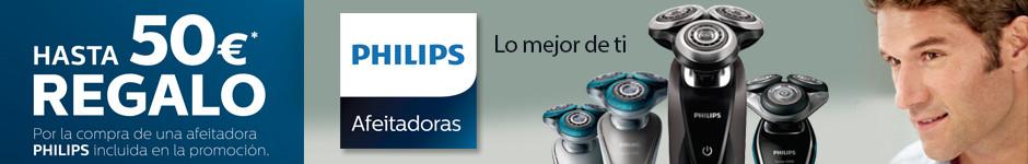 Afeitadoras PHILIPS con hasta 50€ de descuento