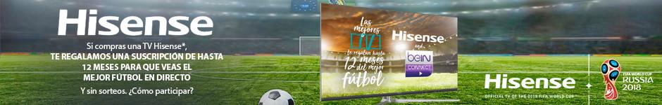 HISENSE te regala hasta 12 meses de suscripción para ver el mejor futbol.