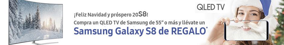 """Por la compra de un QLED TV de 55"""" o más, Galaxy S8 de regalo"""
