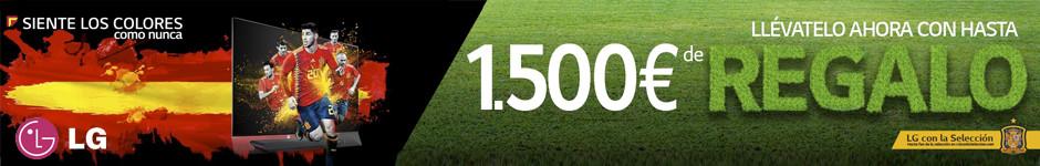 Hasta 1.500€ de regalo por la compra de un TV LG OLED