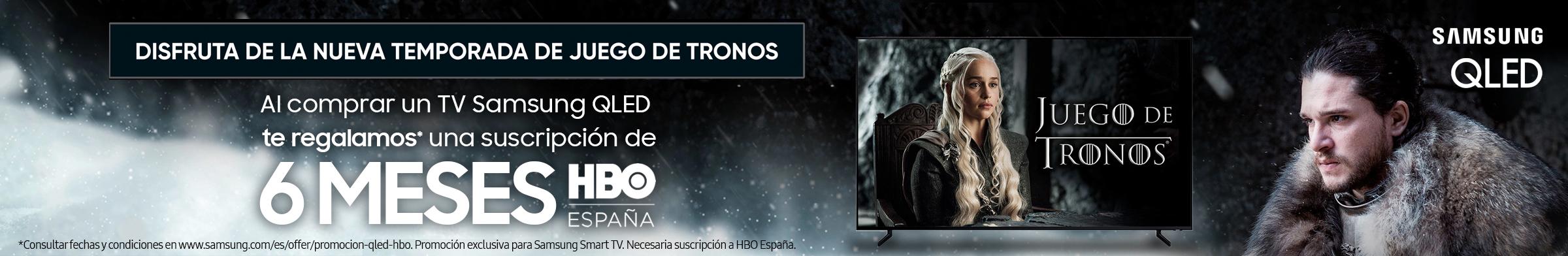 Cómprate un televisor QLED y disfruta de 6 meses de HBO España.