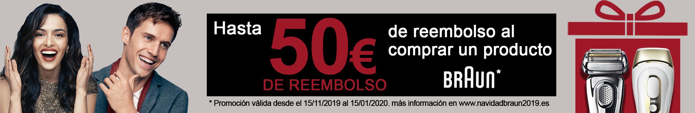 Llévate hasta 50€ de Reembolso por la compra de un producto BRAUN