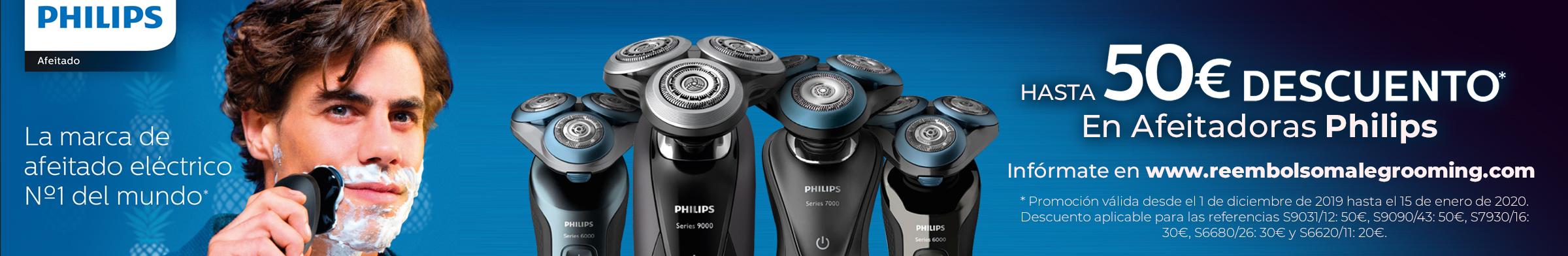 Hasta 50€ de descuento en Afeitadoras Philips