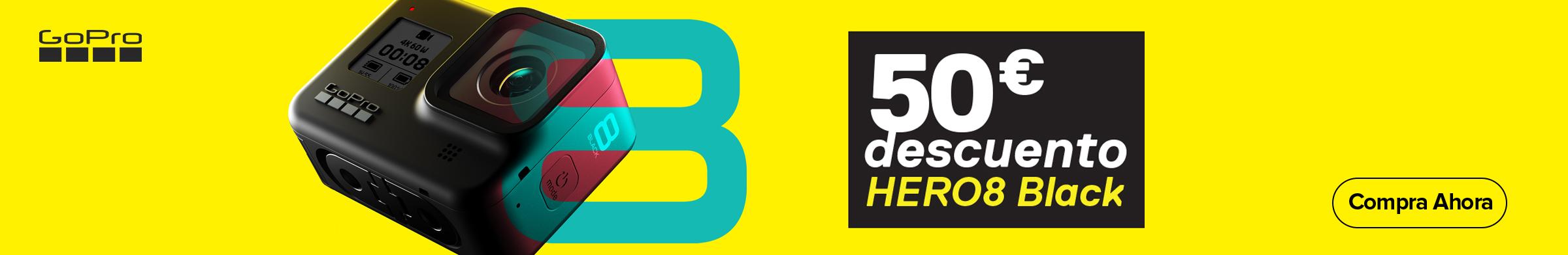 50€ de descuento en Gopro HERO8 Black