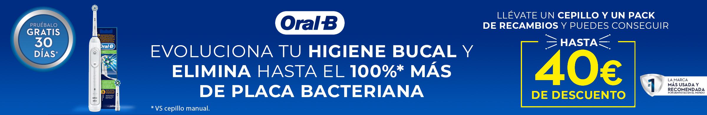 """""""ORAL B - Reembolso de hasta 40 € por la compra de 1 cepillo eléctrico y/o Recambio Oral B."""