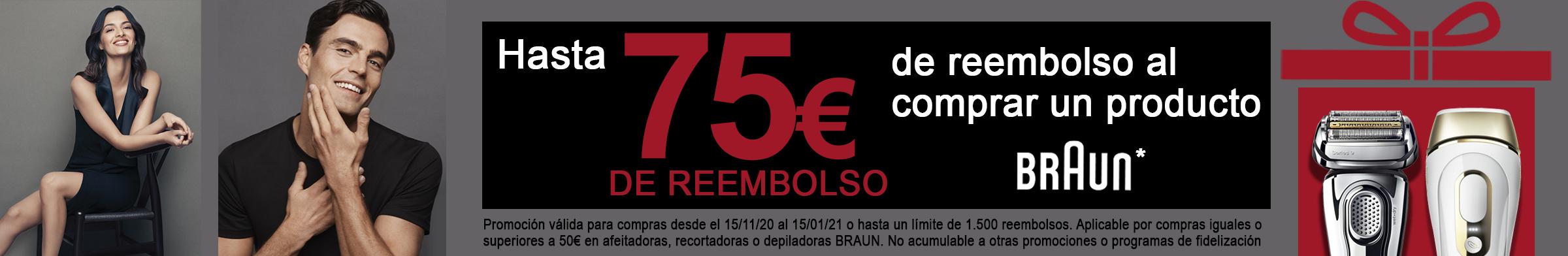 HASTA 75€ DE REEMBOLSO AL COMPRAR UN PRODUCTO BRAUN